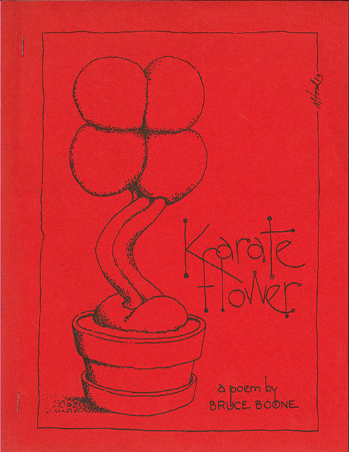 First edition of Karate Flower, cover by Michael Ford; Hoddypoll Press, 1973.