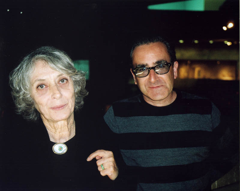 "Tosh Berman (right) with his mother, Shirley, at the opening of the ""Semina Culture"" exhibition at Berkeley Art Museum."