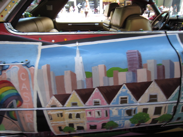 """The famous postcard houses on Alamo Square that symbolize """"San Francisco"""" to many."""