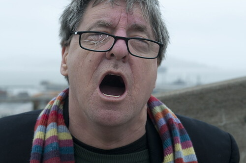 Kevin Killian restaged for Kota Ezawa's Odessa Staircase Redux, 2009