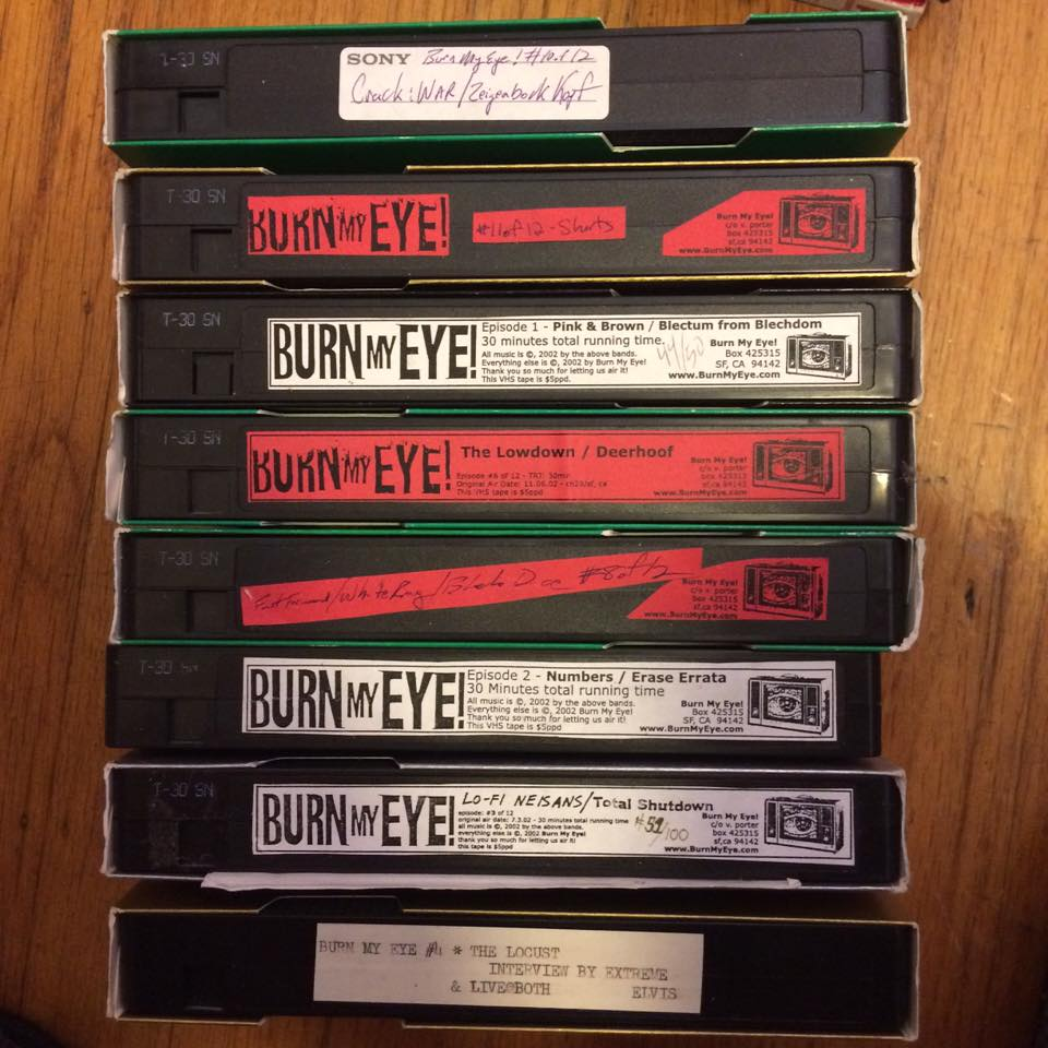 photo by Paul Costuros from his personal Burn My Eye VHS collection