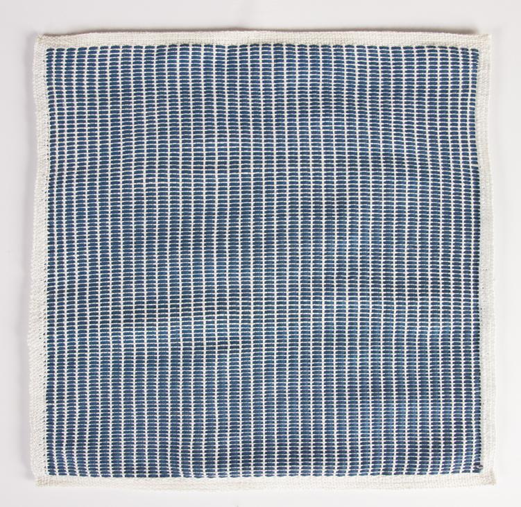 Francesca Capone, woven reproduction of Agnes Martin's Petal, 2016