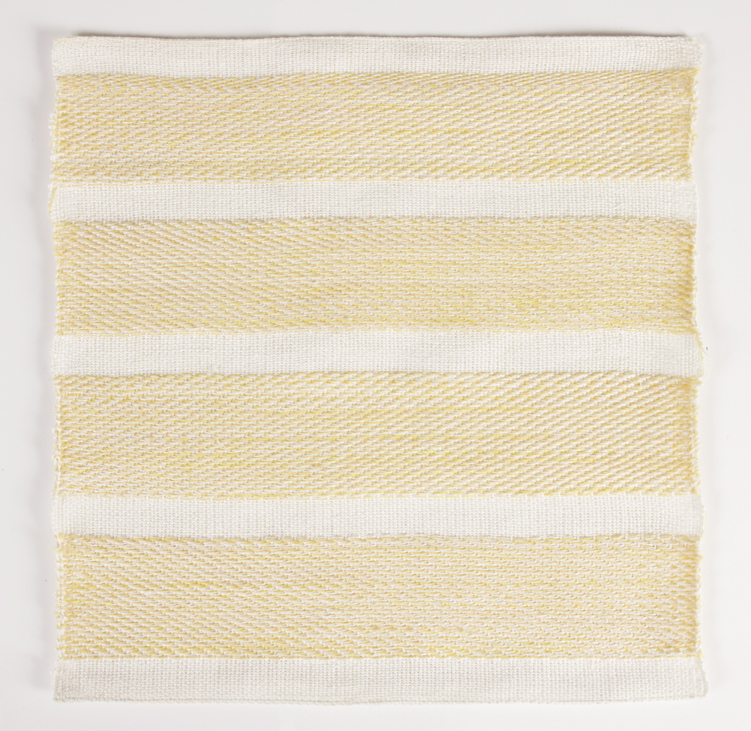 Francesca Capone, woven reproduction of Agnes Martin's Untitled #7, 2016