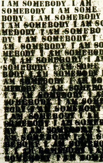Glenn Ligon, I Am Somebody, 1991