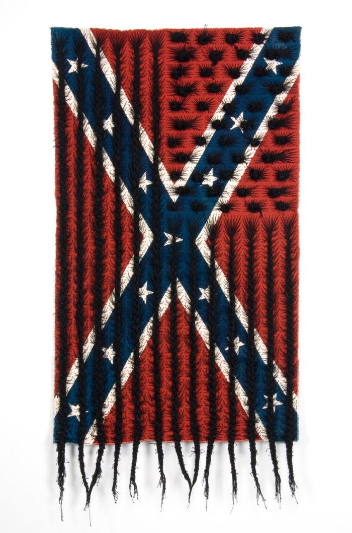 Sonya Clark, Black Hair Flag (2010)