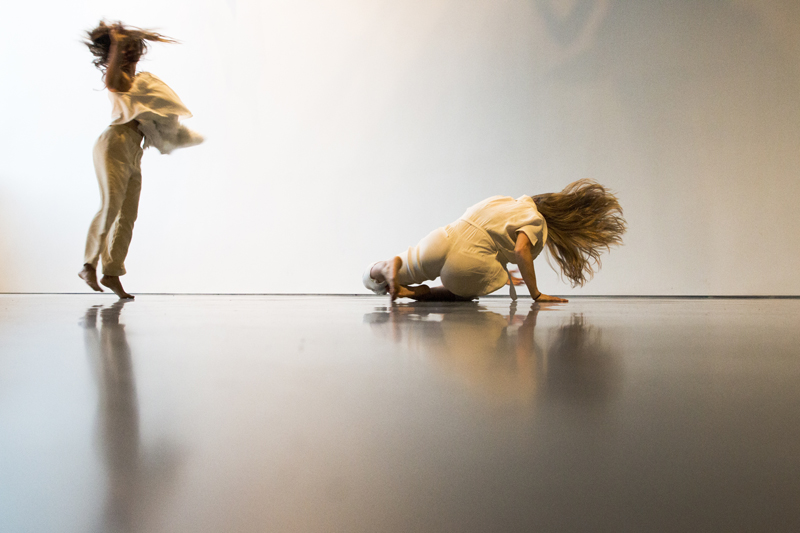 Institut IDGAF (SamanthaAllen&DevikaWickremesinghe) performing as part of SALTA + AUNTS = BAMPFA, March 25th, 2016 at the Berkeley Art Museum and Pacific Film Archive