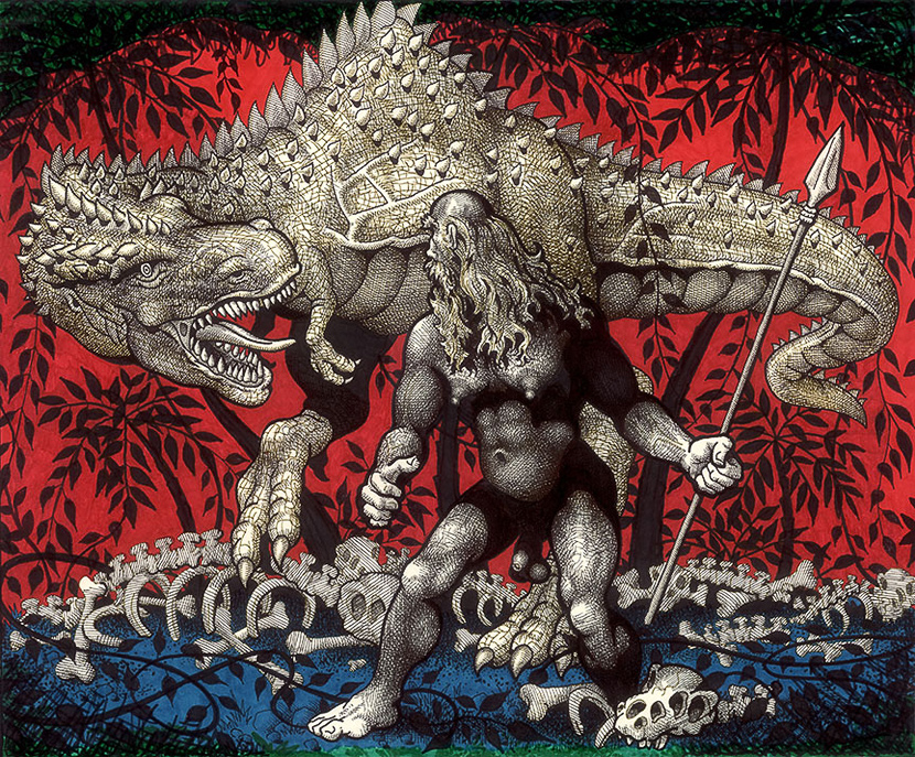 Mike Kuchar, Man and Monster, 1980-1990. Courtesy of the artist.