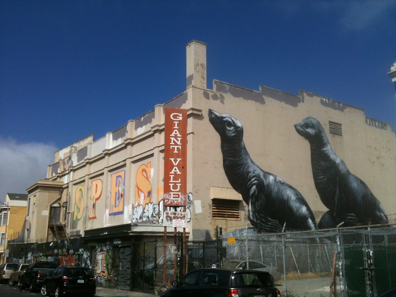 The b-side of Giant Value, which was demolished and replaced with the Vida luxury condos in 2013.