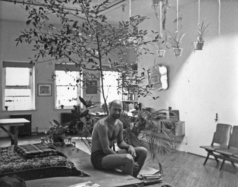 Douglas Crimp in his Chambers Street loft, New York, c. 1974. Photographer unknown.