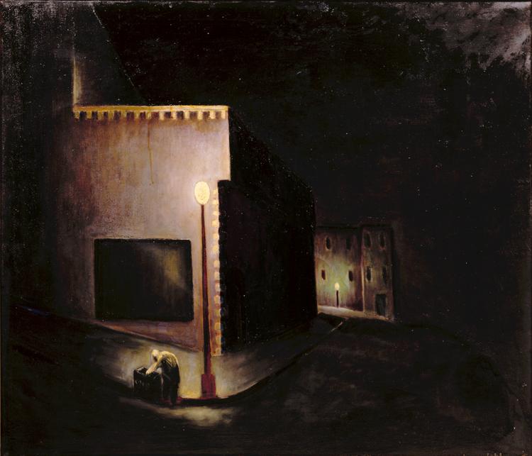 Matthew R. Barnes, Night Scene, 1932