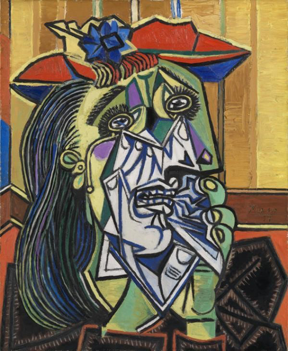 Weeping Woman, Pablo Picasso, 1937, Photo: © Tate, London 2017.