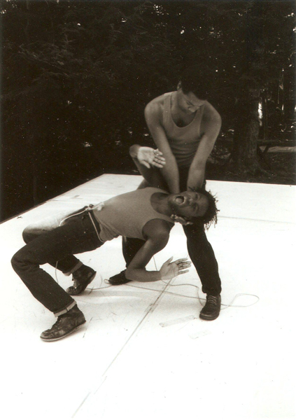Ishmael Houston-Jones and Fred Holland, 1982. Photo: Lorie Novak.