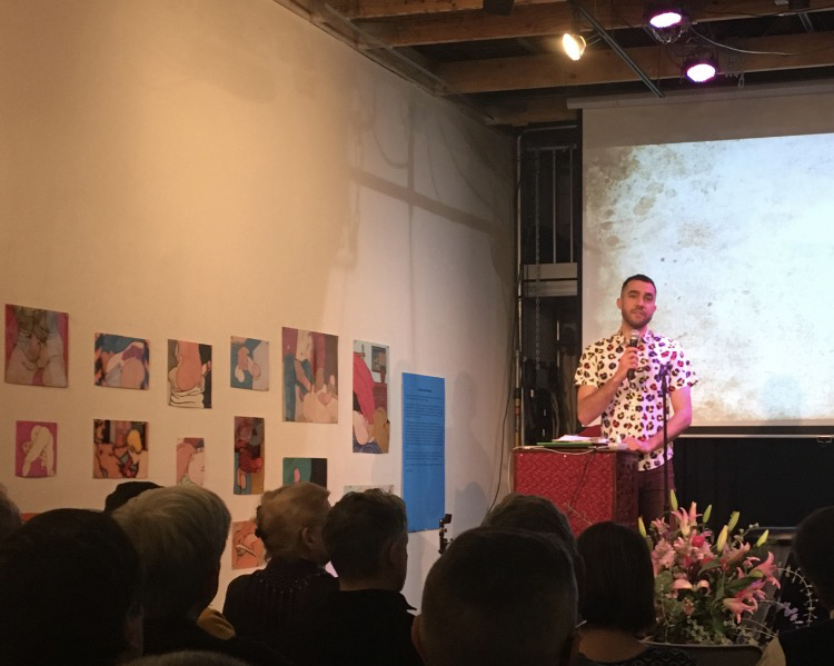 Alex speaking at Premorial: A Circle of Love and Celebration for Buzz Bense at the Center for Sex & Culture, San Francisco, January 22, 2017.
