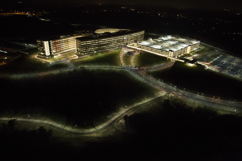 Flying over the National Geospatial Intelligence Agency with Trevor Paglen in 2014. Photo courtesy of the artist.