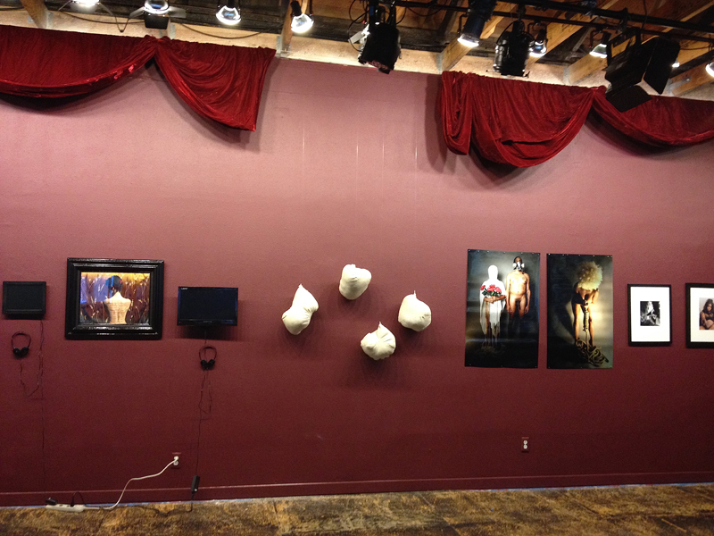 Install shot from Dark Desires: The Erotic Lives of Black Women, curated by crystal am nelson, 2014.