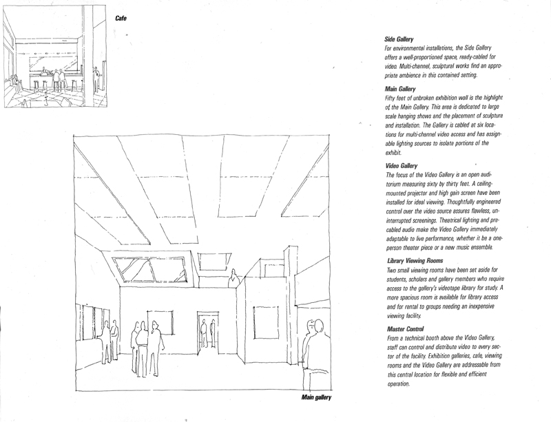 An interior page from the architectural prospectus, 1986.