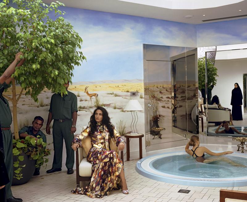 Larry Sultan, <em>Dubai Hot Tub</em>, 2005. Courtesy The Estate of Larry Sultan and Casemore Kirkeby.