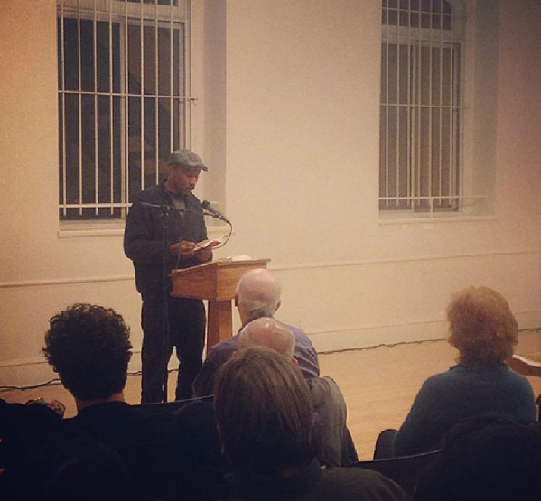 Will Alexander reading at the Poetry Project, December 10, 2014. Photo: Laura Henricksen.
