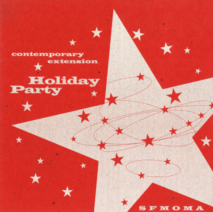 SFMOMA Holiday Party invitation, 1996. Click to enlarge.