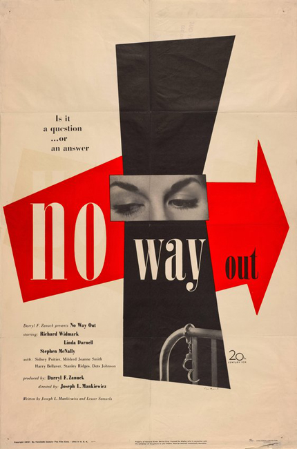 Paul Rand, No Way Out advertisement, 1950