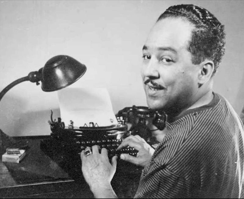 Langston Hughes, c. 1954. Photographer unknown.
