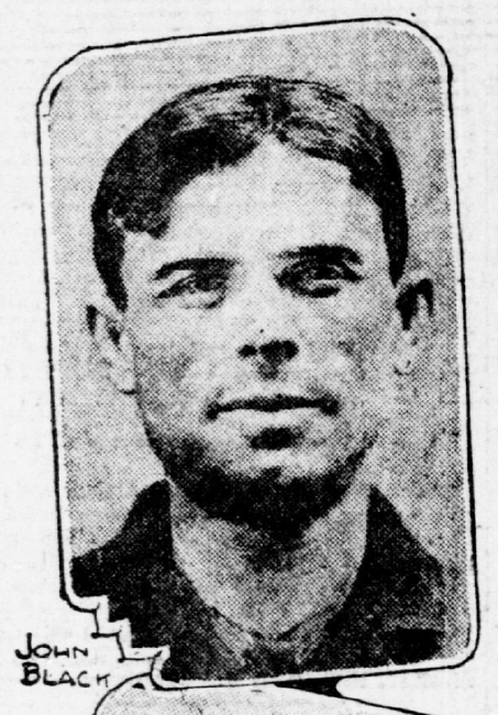 Jack Black's mugshot from the January 5, 1912 edition of the San Francisco Call.
