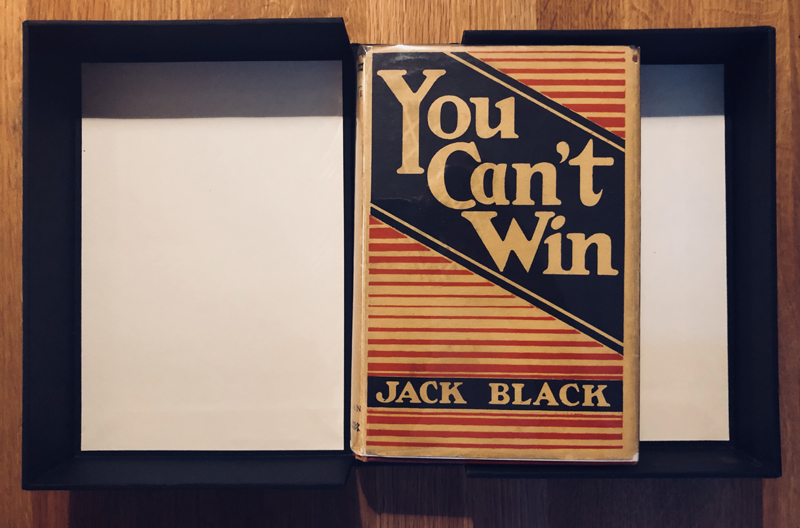 The first edition of Jack Black's <em>You Can't Win</em>, 1926. Courtesy of the author.