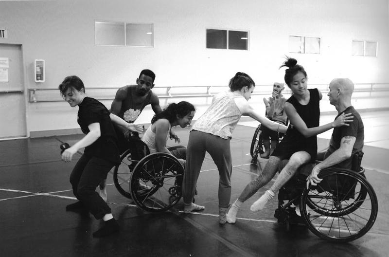 AXIS Dance Company: Liv Schaffer, James Bowen, Carina Ho, Julie Crothers, Marc Brew (back), Lani Dickinson, Dwayne Scheuneman. Photo: Misako Akimoto.