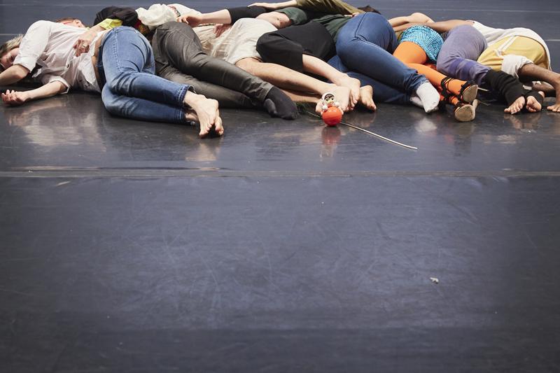 Upstanding Others at the CounterPulse Festival with Megan Young, jose e abad and Zulfikar Ali Bhutto, Tara Pandeya, Saulaman Schlegal, Nina Gasteva, Olga Tsvetkova, and Sasha Portyannikova. Photo: Alex Girard.