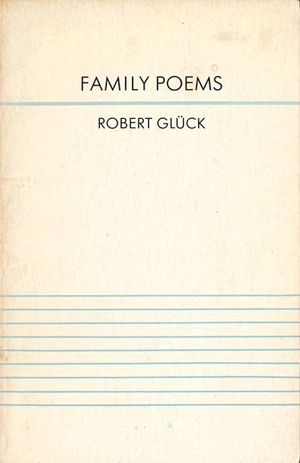 Cover of the first edition of Family Poems; Black Star Series, 1979.