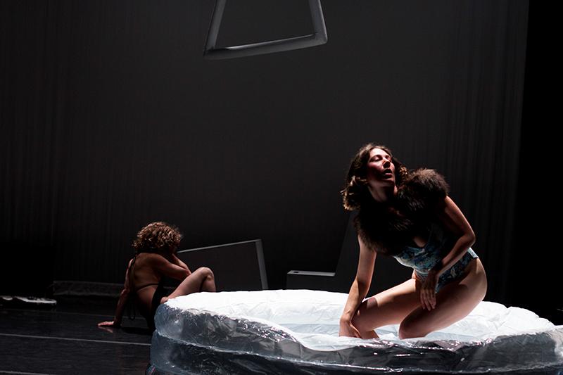 Abby Crain and Mara Poliak in Swimming Pool. Photo: Chani Bockwinkel.