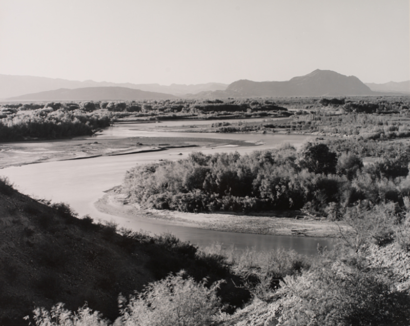 Laura Gilpin, Rio Grande Just Above Confluence with the Rio Conchos, 1947; Joseph M. Cohen Family Collection, New York.
