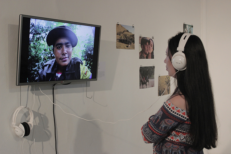 Exhibit of Ivo Aichenbaum's and Jhon Martinez's photo documentary at C3P. Photo credit: Fundación Casa Tres Patios.