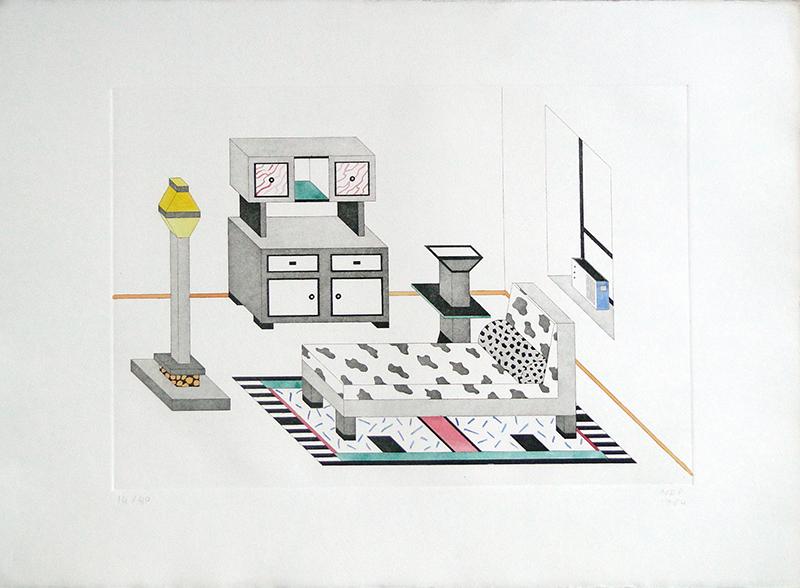 Nathalie du Pasquier, Room with Radio, 1984