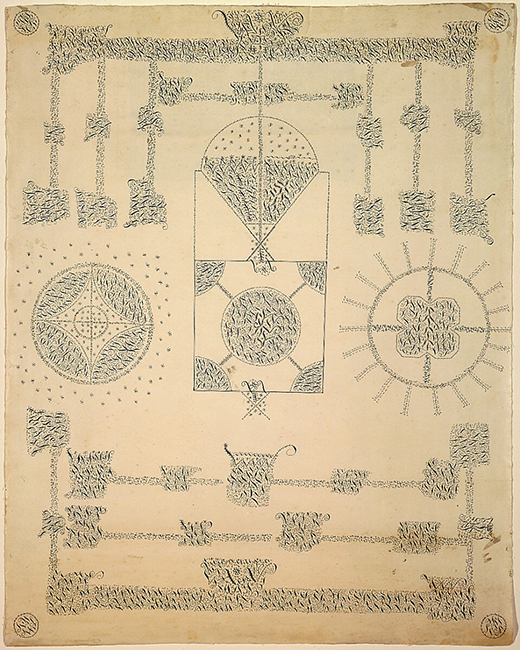 Semantha Fairbanks and Mary Wicks, A Sacred Sheet Sent from Holy Mother Wisdom by Her Angel of Many Signs, 1843, National Gallery of Art.