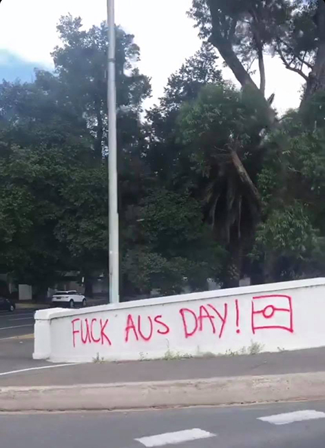 Graffiti in Melbourne on January 26, 2019.