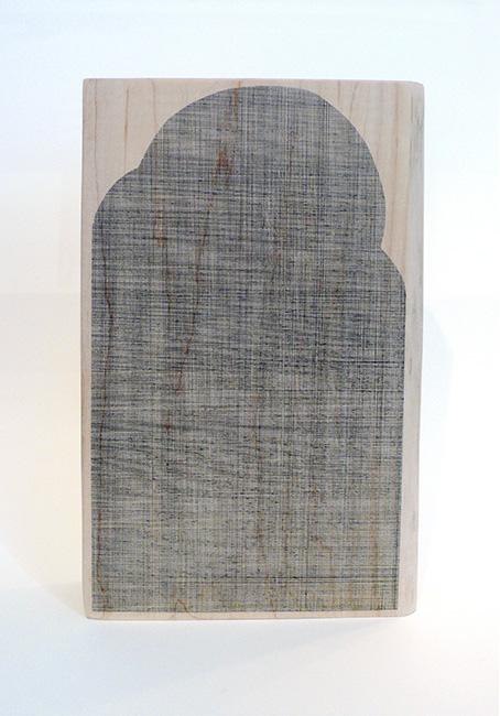 Wayne Smith, Sun Creature, 2019, ink on hardwood.