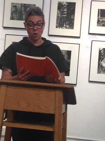 Reading at Alley Cat Bookshop in September 2018. Photo: Margaret Tedesco.