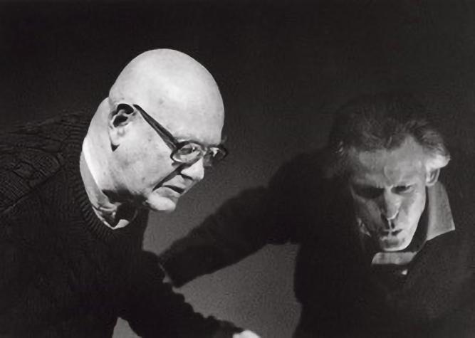 Bill Berkson and Philip Whalen's birthday celebration, 1995. Courtesy of Connie Lewallen.