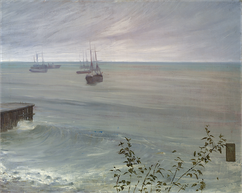 James McNeill Whistler, Symphony in Grey and Green: The Ocean, 1866; oil on canvas. The Frick Collection, Henry Clay Frick Bequest.