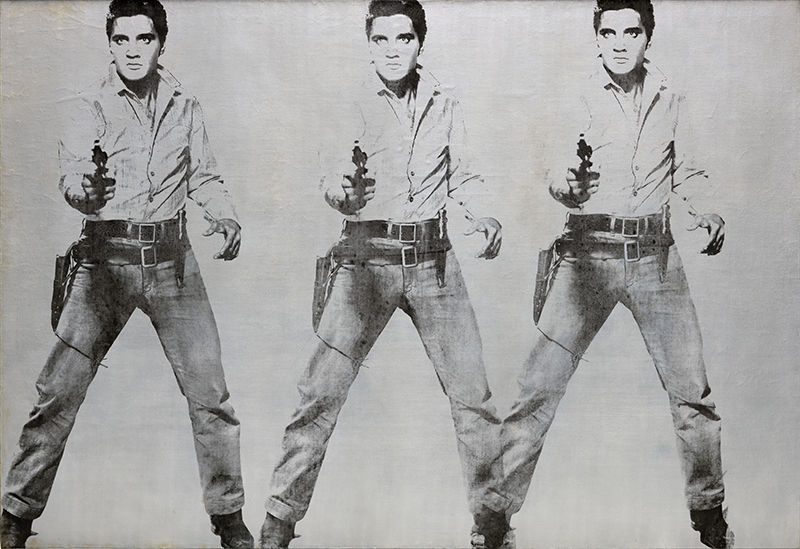 Andy Warhol, Triple Elvis [Ferus type], 1963