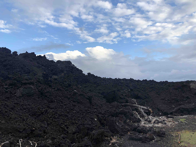 Lava from Fissure 8, Isaac Hale Beach Park, Pohoiki, Hawaii, CA.