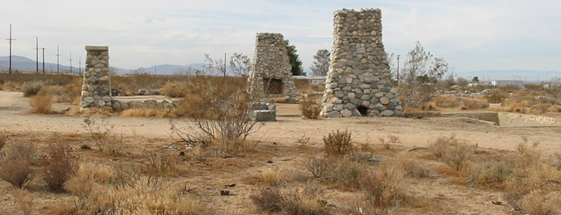 The existing remnants of Llano del Rio, where Lewitzky was born.
