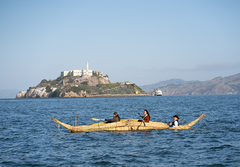 From the Alcatraz Canoe Journey. Photo: Marissa Leshnov.