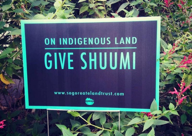 On Indigenous land.