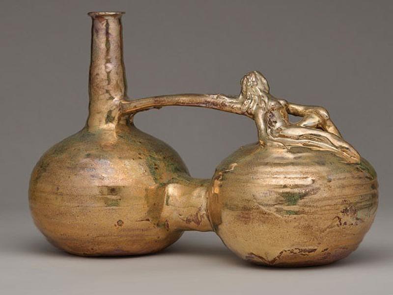 Beatrice Wood, <em>Untitled</em>, 1987; ceramic. Image courtesy the Beatrice Wood Foundation.