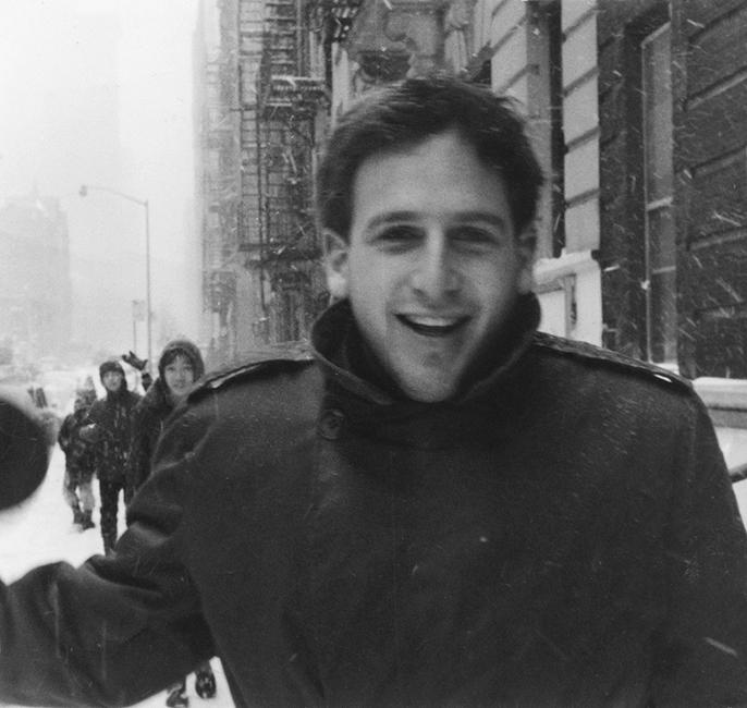 Nathaniel Dorsky in New York City, 1964. Photo: Tony Baczewski.