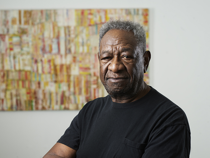 Mike Henderson, 2019. Photo: Robert Divers Herrick. Courtesy of Haines Gallery, San Francisco.