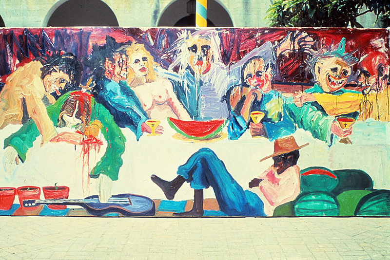 Mike Henderson, from The Last Supper, 1970/1973. Courtesy of the artist.