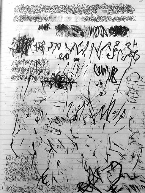 asemic poem by manuel arturo abreu, 2016.